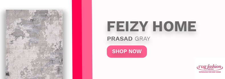 Feizy Home Prasad Gray Banner - Rug Fashion Store